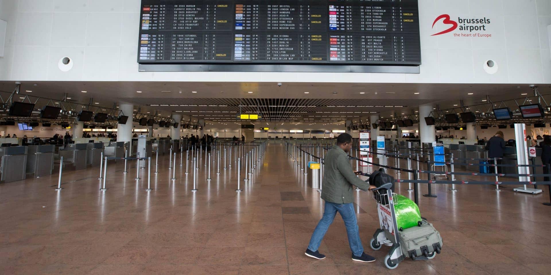 Le trafic aérien s'est écroulé de 70% à Brussels Airport !