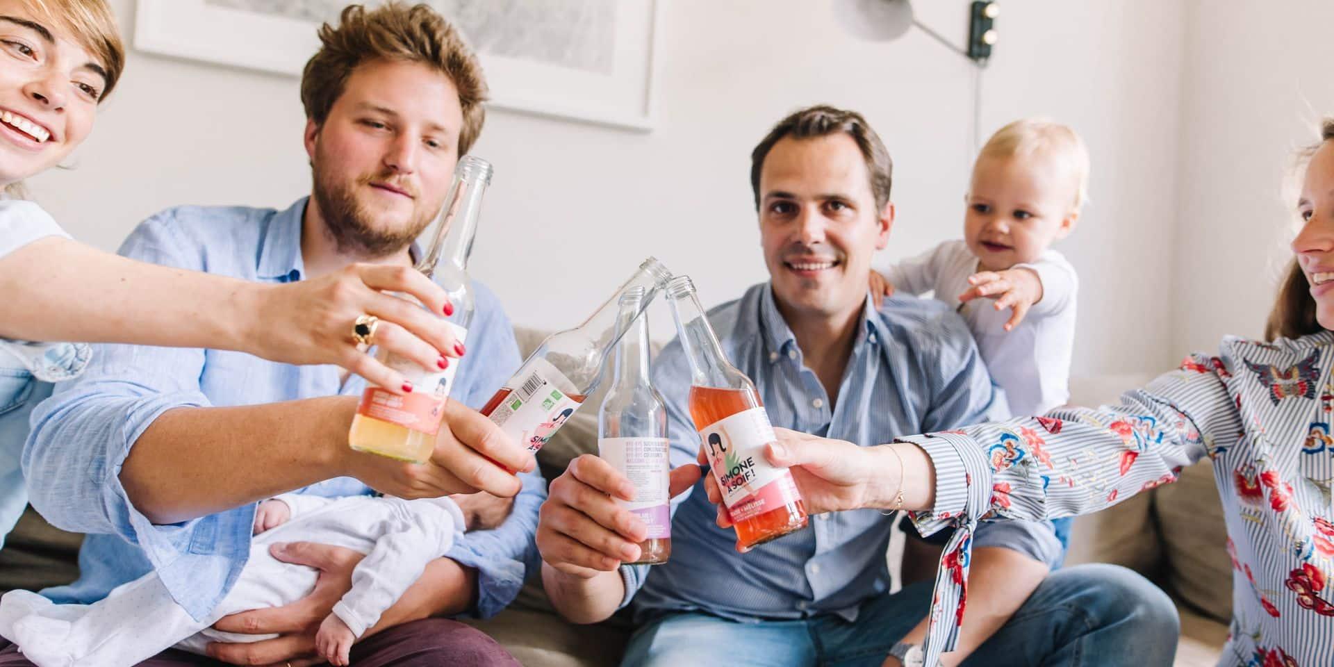 Concours : Gagnez 5 packs Simone a soif ! : de délicieuses eaux fruitées artisanales, belges, bios et surprenantes. Du jamais bu !