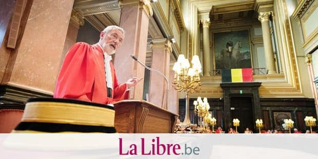 First attorney general, Andre Henkes delivers a speech at a general and public meeting at the opening of the new judicial year of the Court of Cassation (High Court - Hof Van Cassatie - Cour de Cassation), in Brussels, Monday 03 September 2018. BELGA PHOTO BENOIT DOPPAGNE