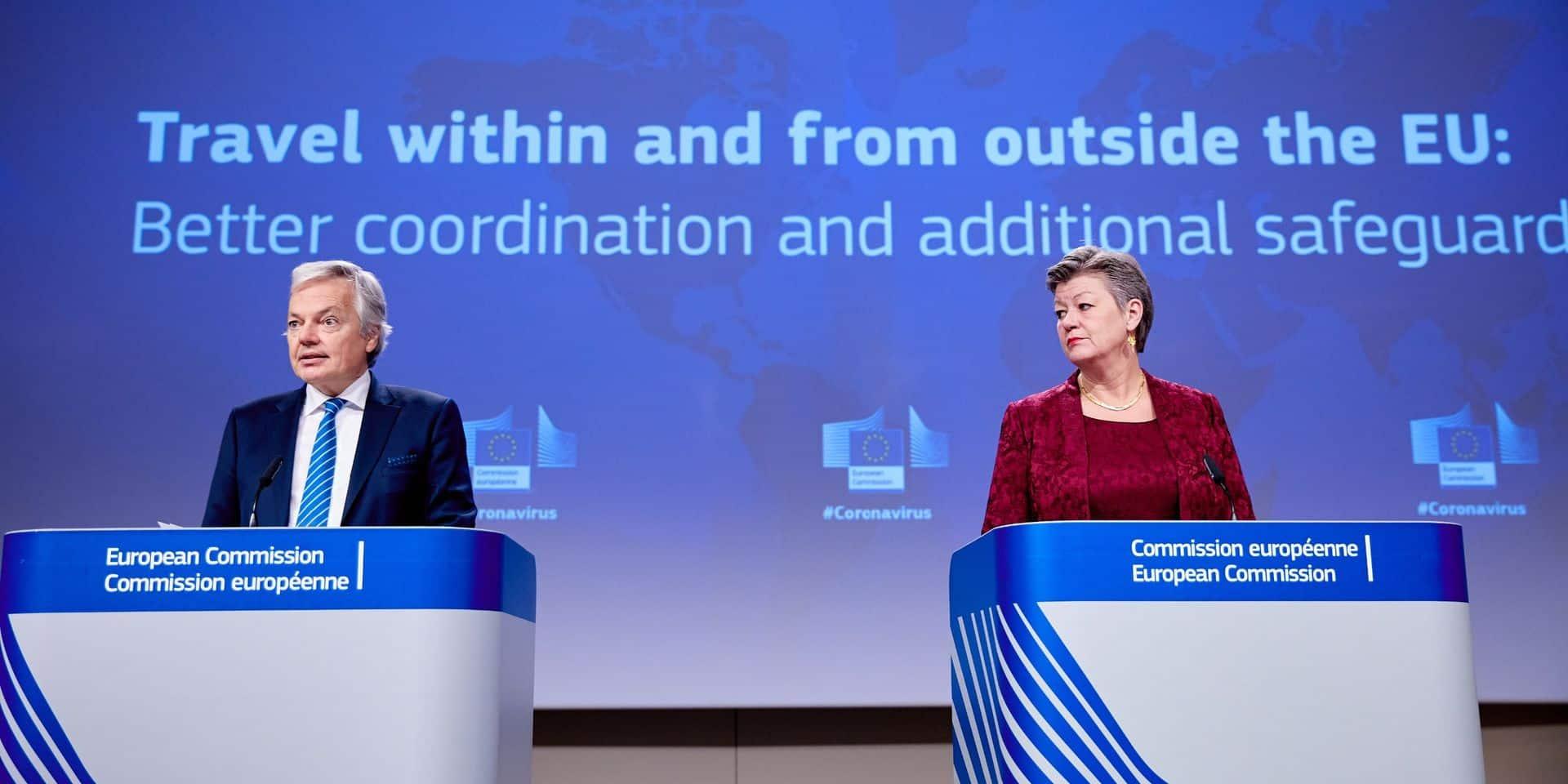 La Commission européenne semble peu goûter la décision belge d'interdire les voyages