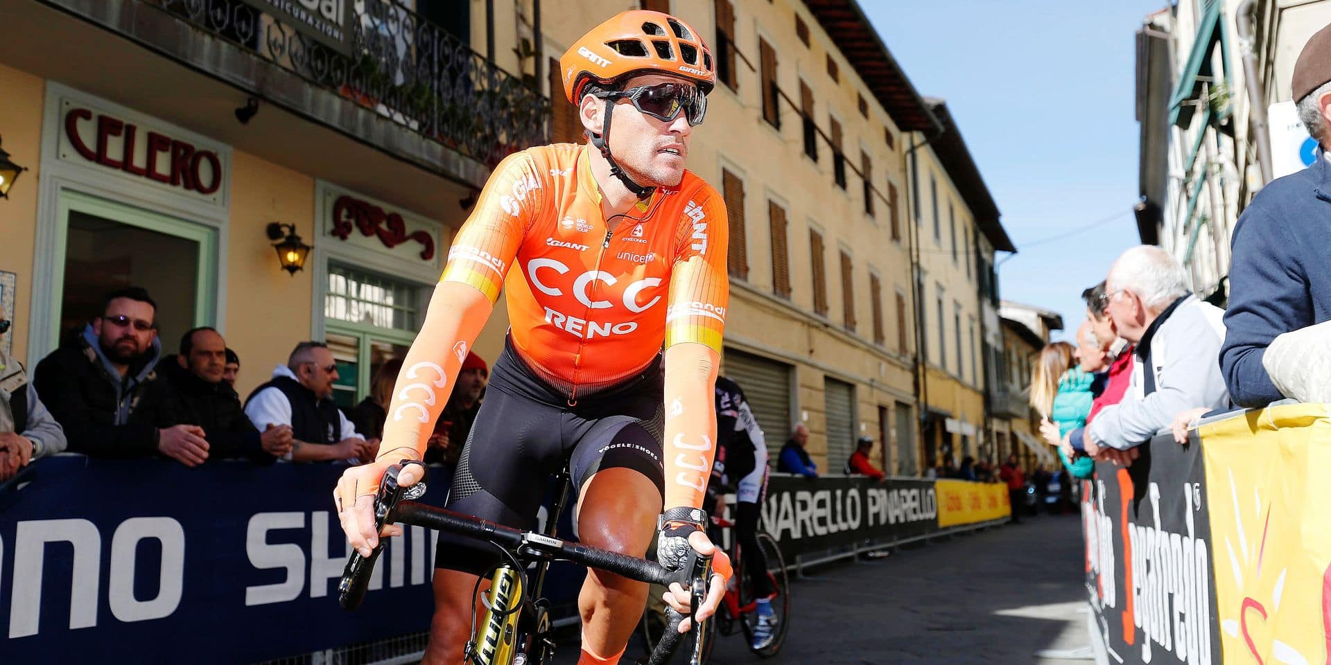 Belgian Greg Van Avermaet of CCC Team pictured ahead of stage 2 of the Tirreno-Adriatico cycling race, from Camaiore to Pomarance (195 km), Italy, Thursday 14 March 2019. BELGA PHOTO YUZURU SUNADA - FRANCE OUT