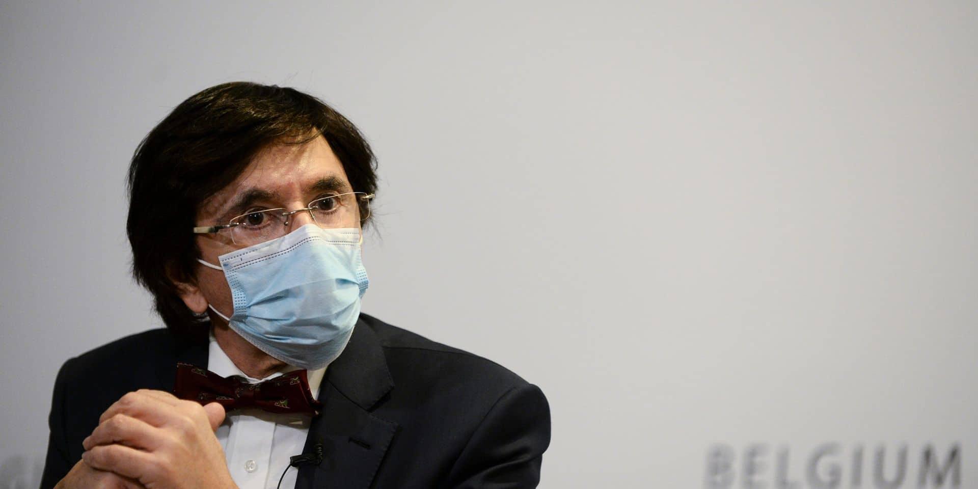 """Elio Di Rupo à propos du couvre-feu : """"Je comprends l'attitude de Bruxelles"""""""