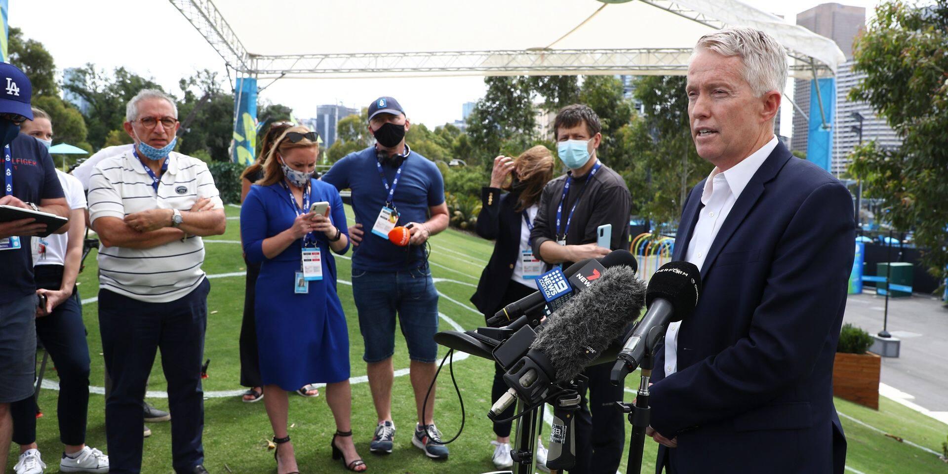 """Le patron de l'Open d'Australie """"absolument confiant"""" quant à la tenue du tournoi malgré le cas de Covid"""