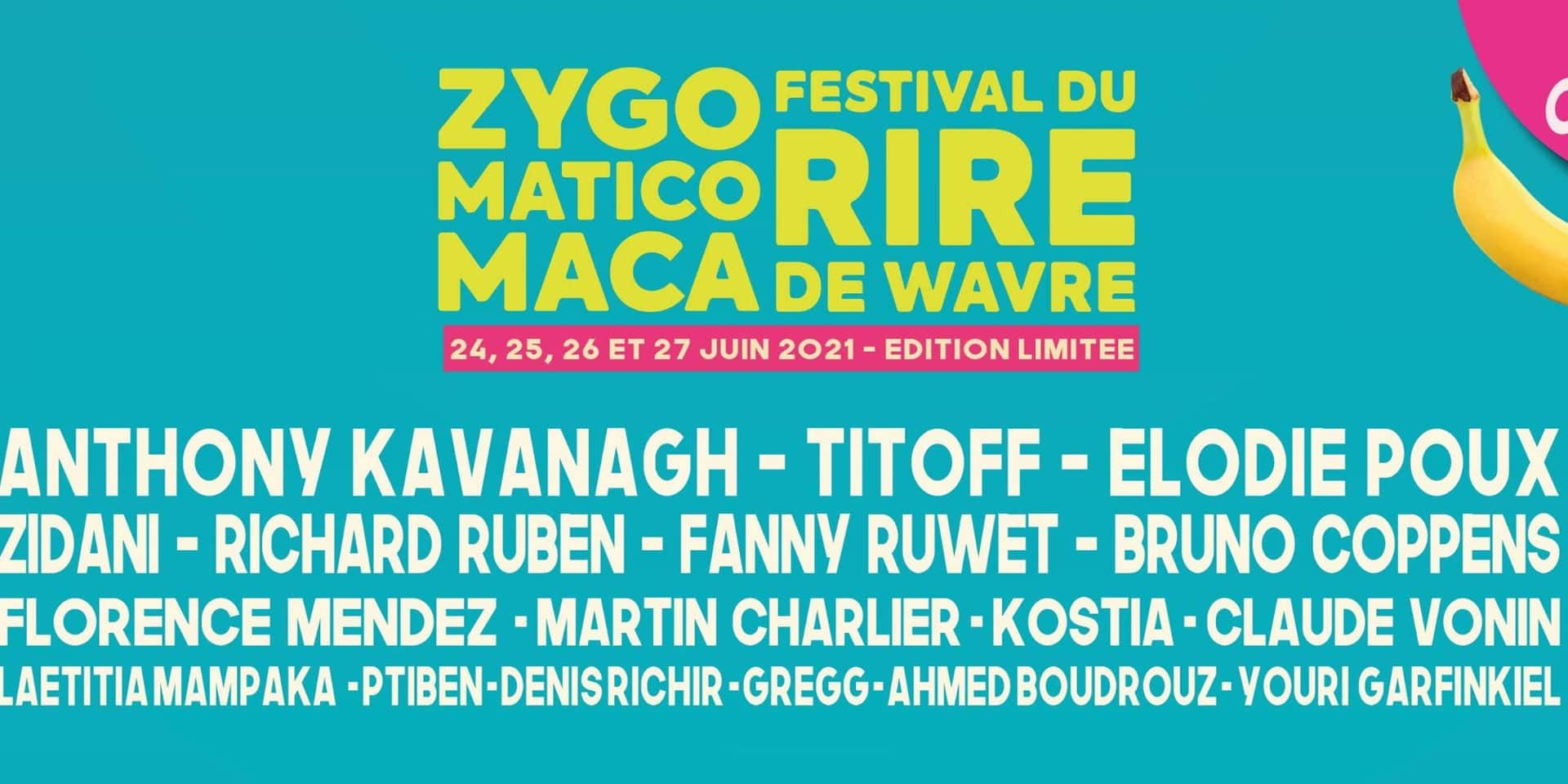 Remportez vos places pour le Zygomaticomaca, le festival du rire de Wavre