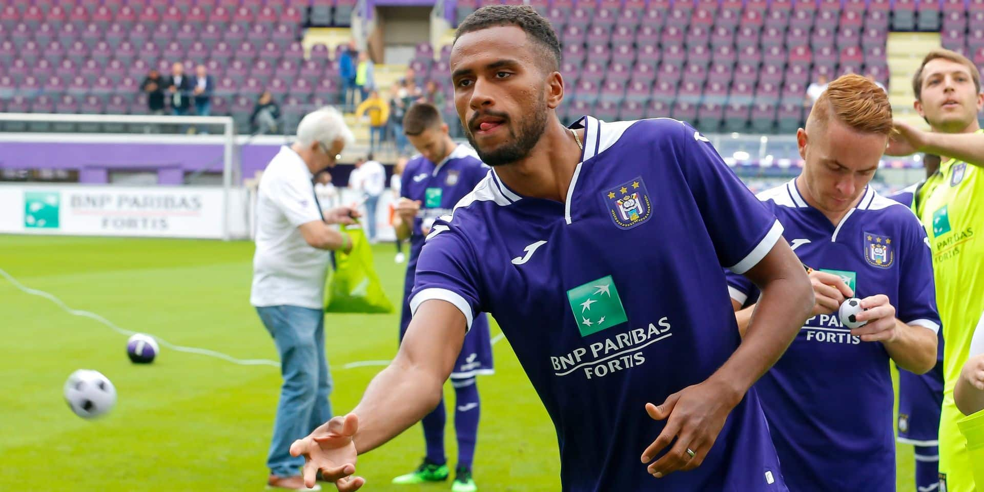Illustration picture shows a training session on the fan day of soccer team RSC Anderlecht, Sunday 14 July 2019 in Anderlecht, Brussels. BELGA PHOTO NICOLAS MAETERLINCK