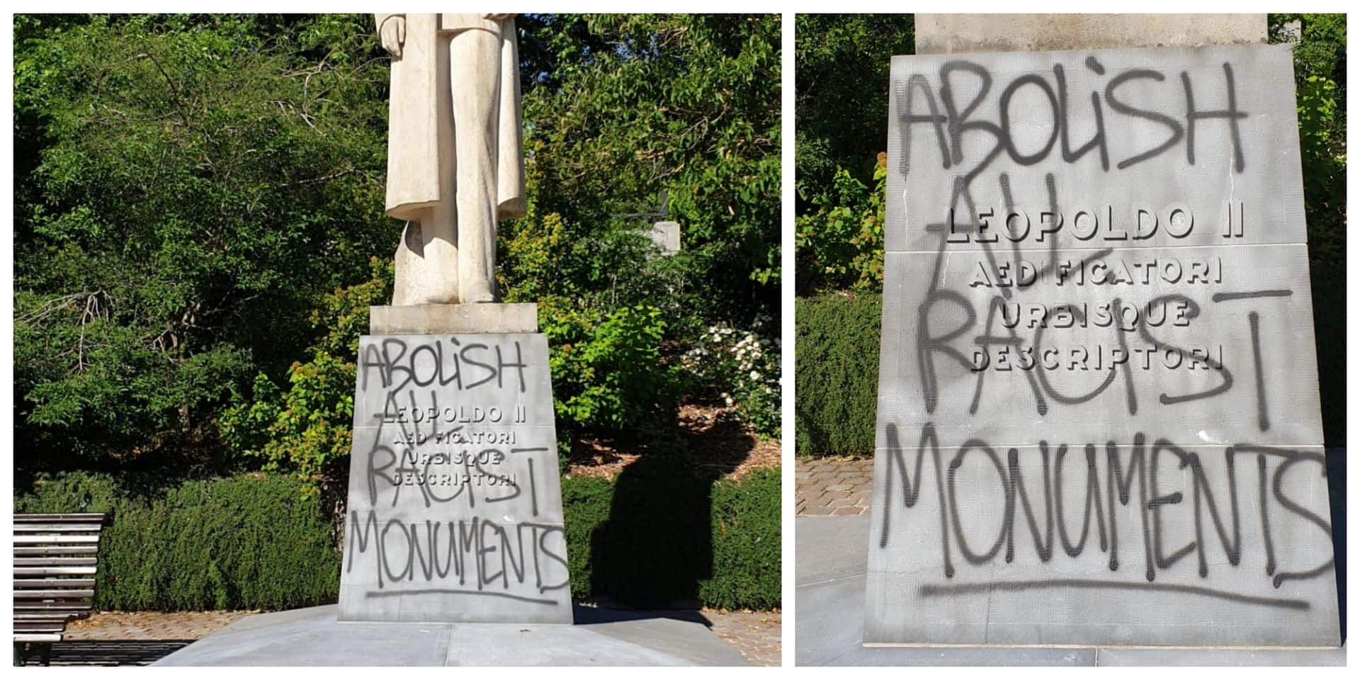 Des statues à nouveau vandalisées à Bruxelles durant le weekend