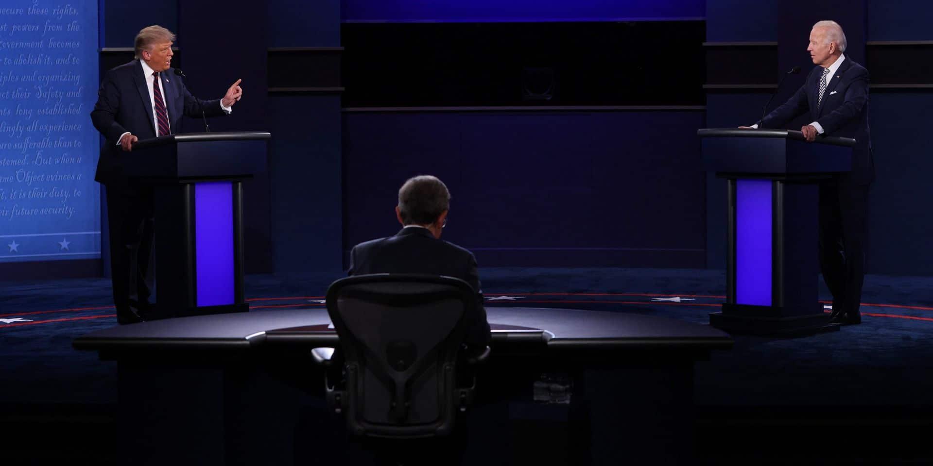 Les micros de Donald Trump et Joe Biden pourront être coupés lors de leur prochain débat