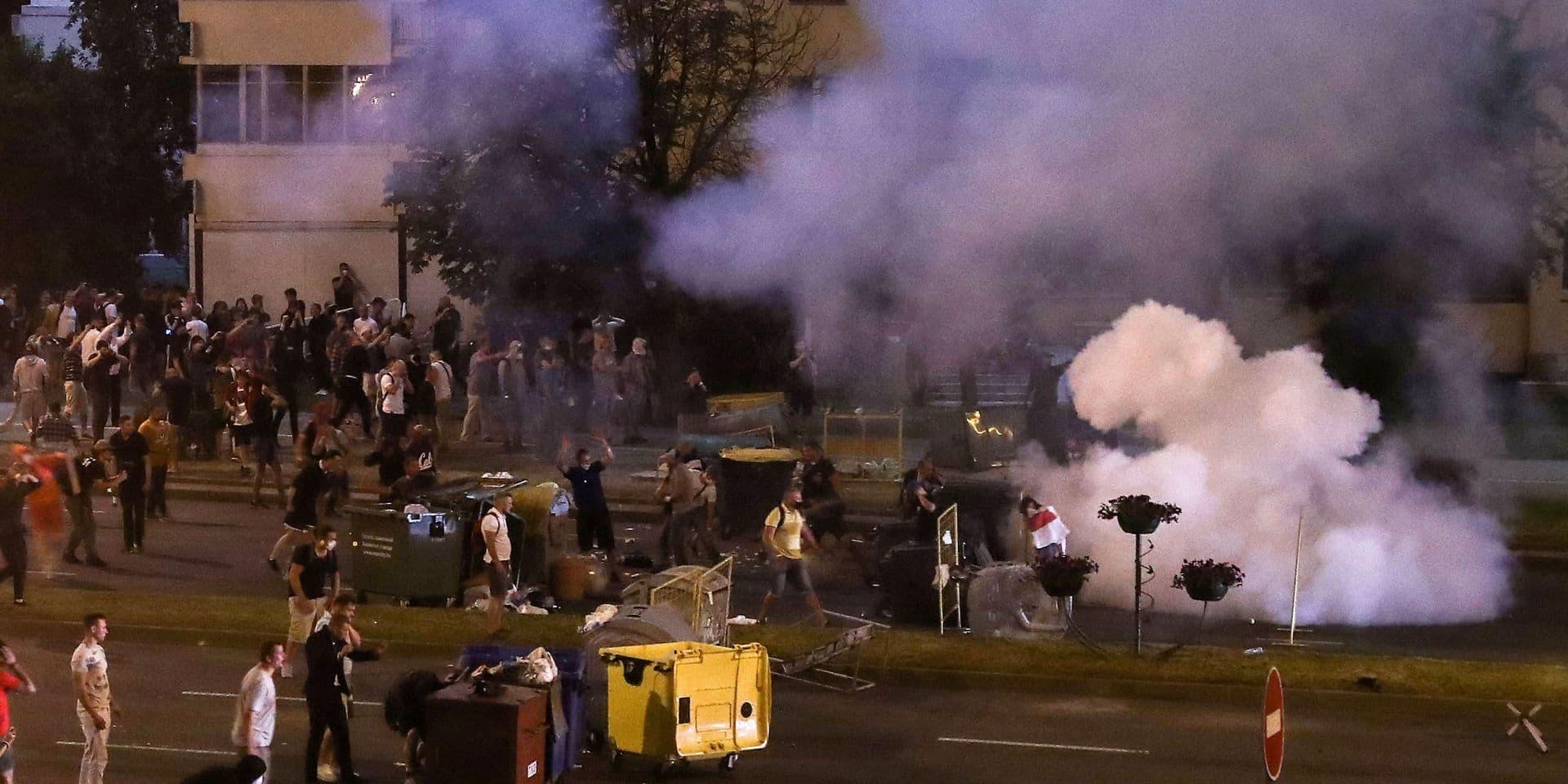 Présidentielle en Biélorussie : la police disperse par la force de nouvelles manifestations