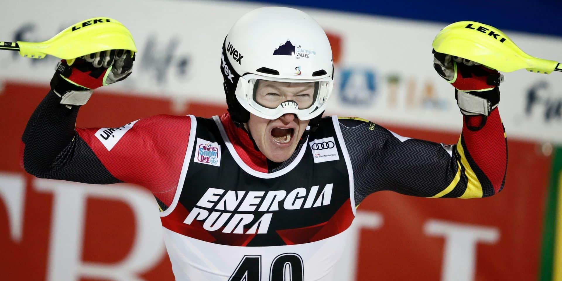 Ski alpin: Armand Marchant signe un top 5 historique sur le slalom de Zagreb en Coupe du monde