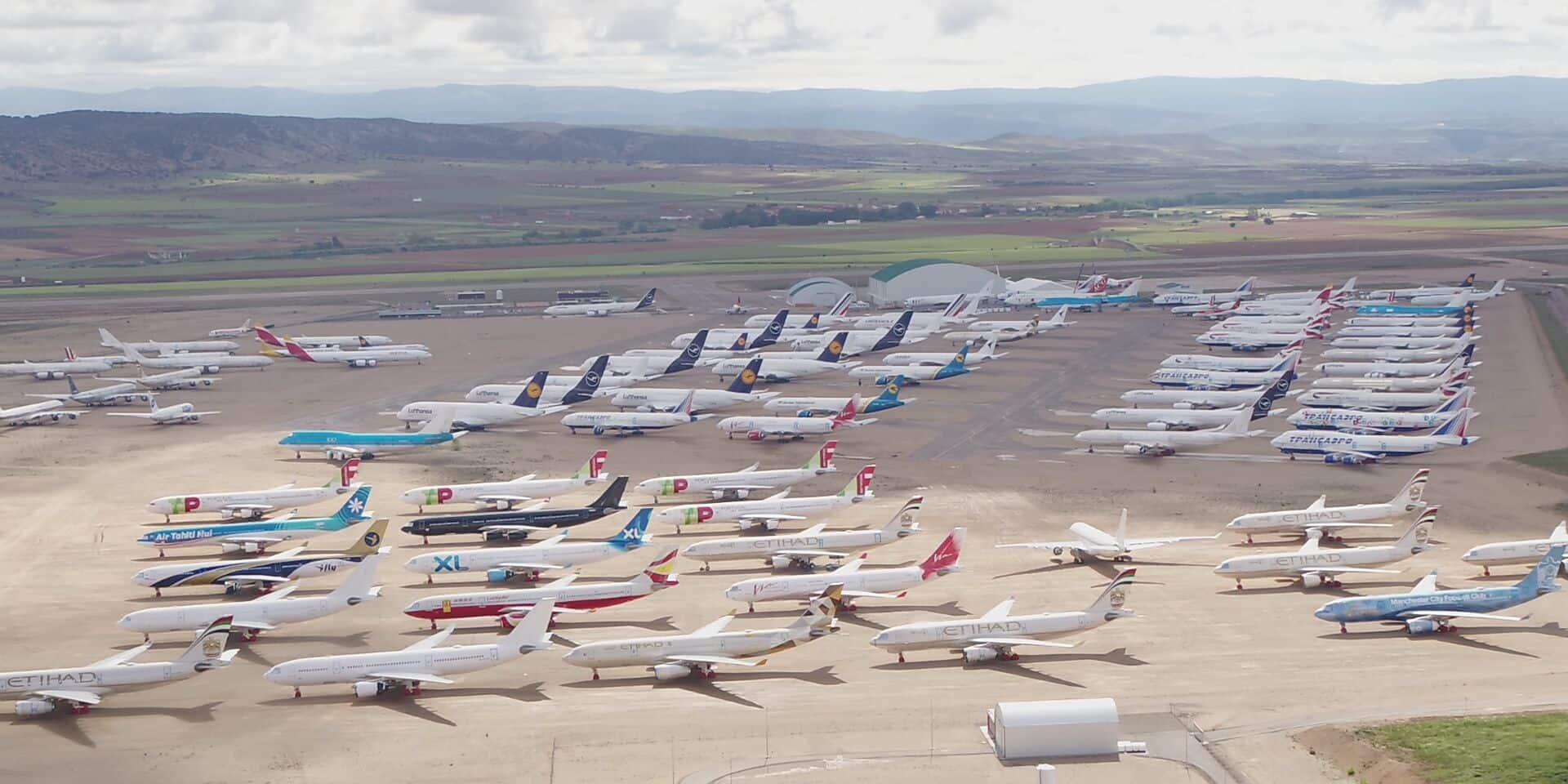 Teruel, ce gigantesque parking d'avions immobilisés à cause du Covid