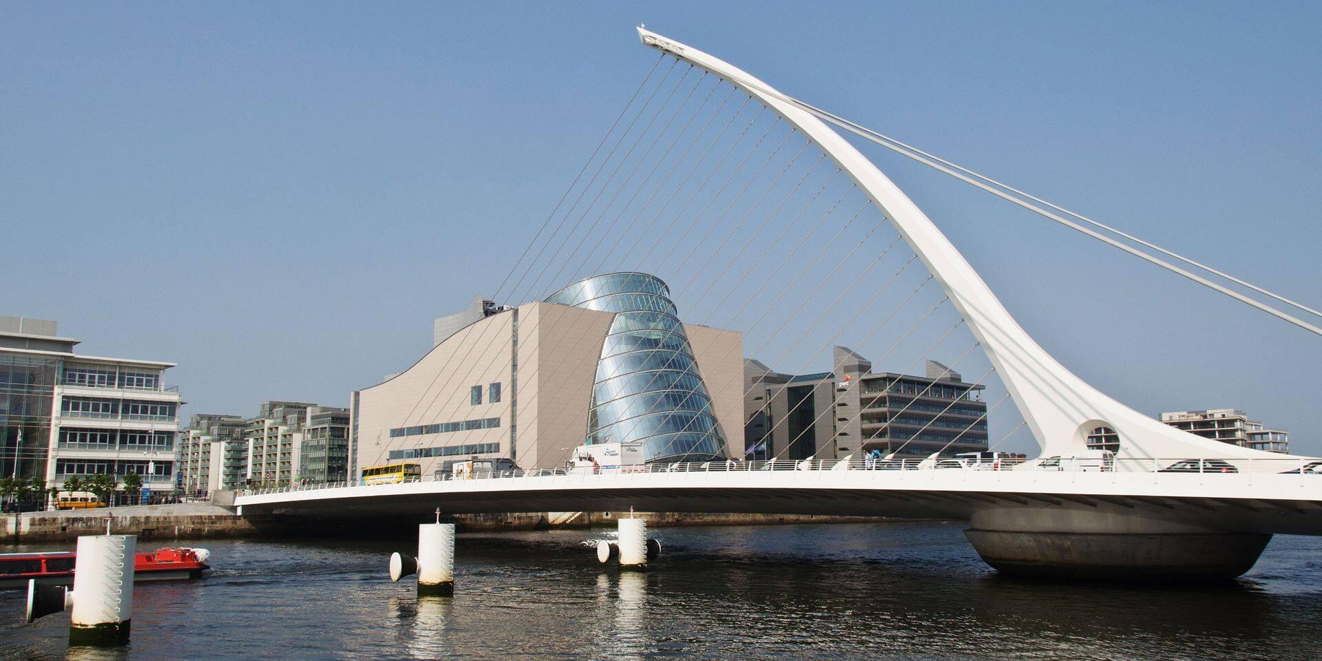 Le pont Samuel Beckett à Dublin.
