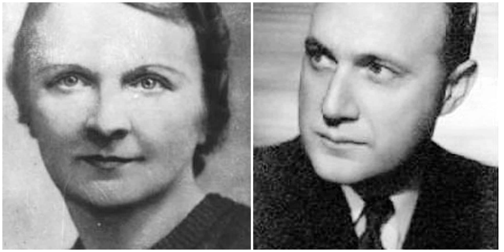 L'Alsacienne Berty Albrecht et l'agent secret Gilbert Renault.