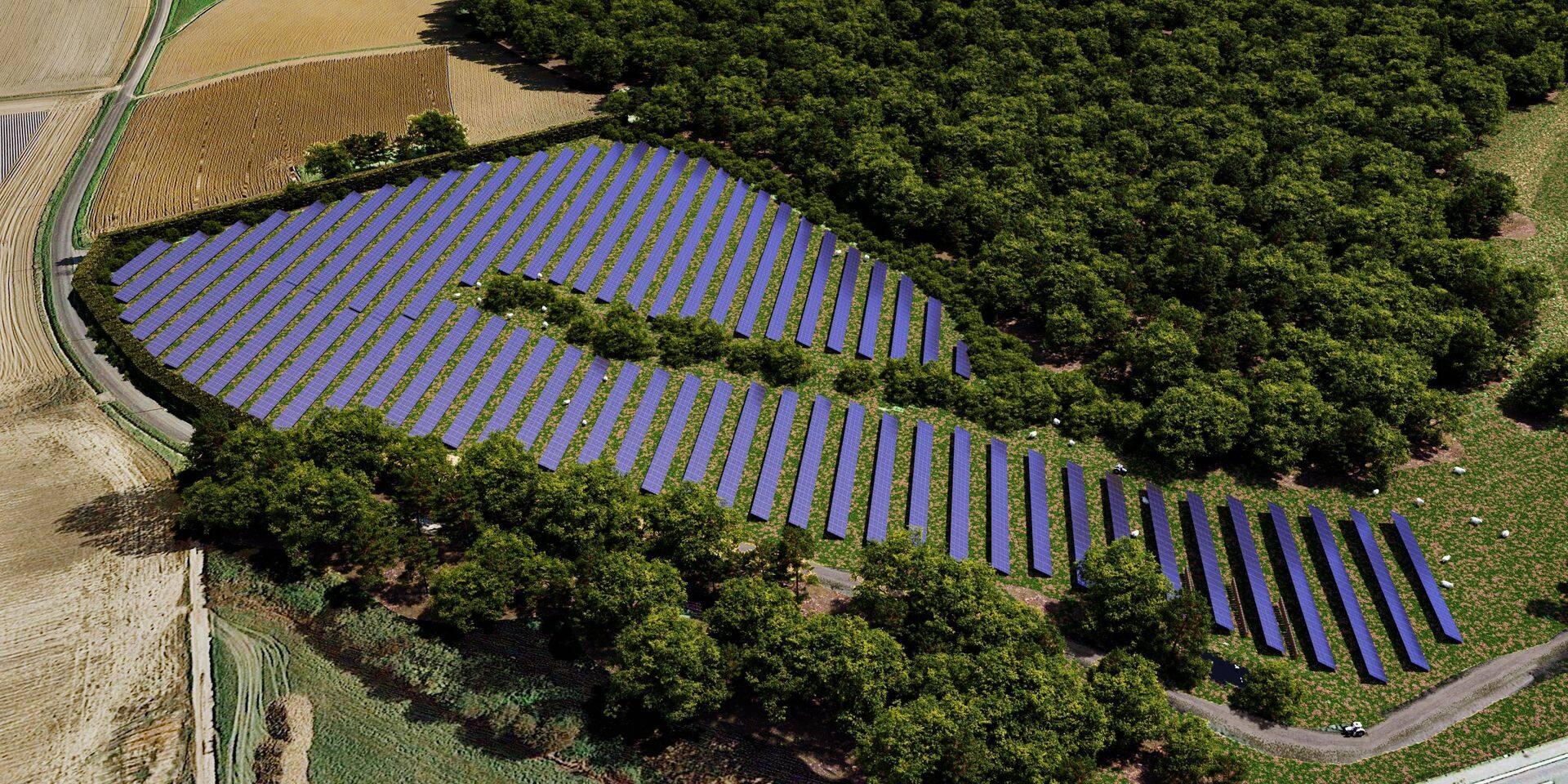 Lorsque des espaces agricoles sont mobilisés, il est possible de combiner la production d'électricité et agricole.