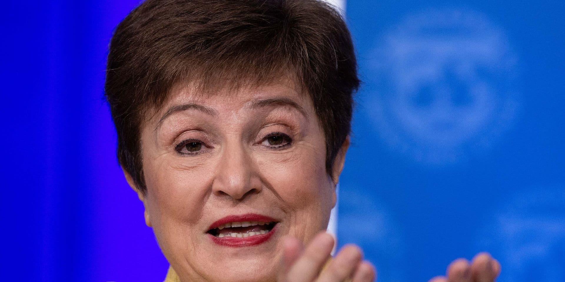 """""""Nous nous attendons désormais à une nouvelle accélération"""" de l'expansion, a affirmé Kristalina Georgieva, présidente du FMI"""