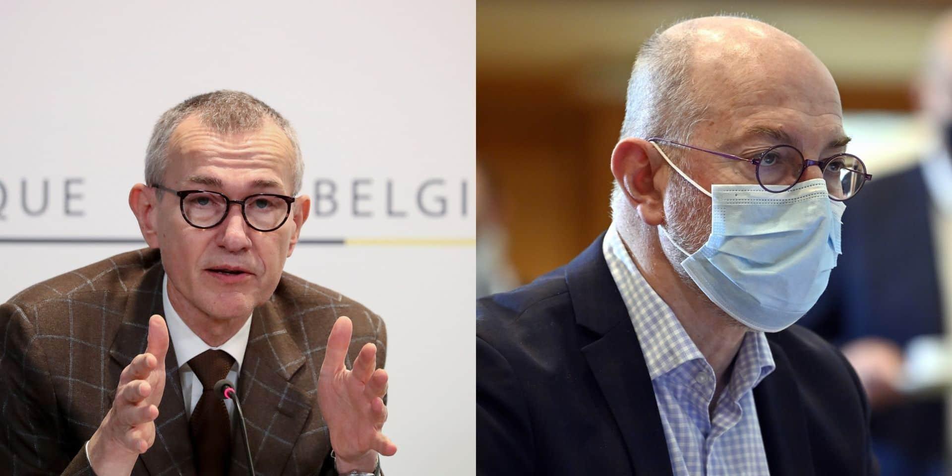 Vers un report de la réouverture de l'horeca? Frank Vandenbroucke et Pierre Van Damme évitent le sujet