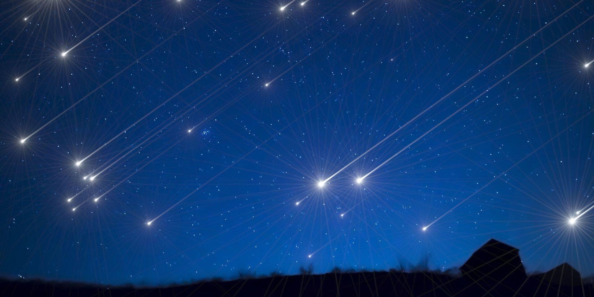 Si vous vous levez tôt samedi matin, vous pourrez assister à un spectacle d'étoiles filantes