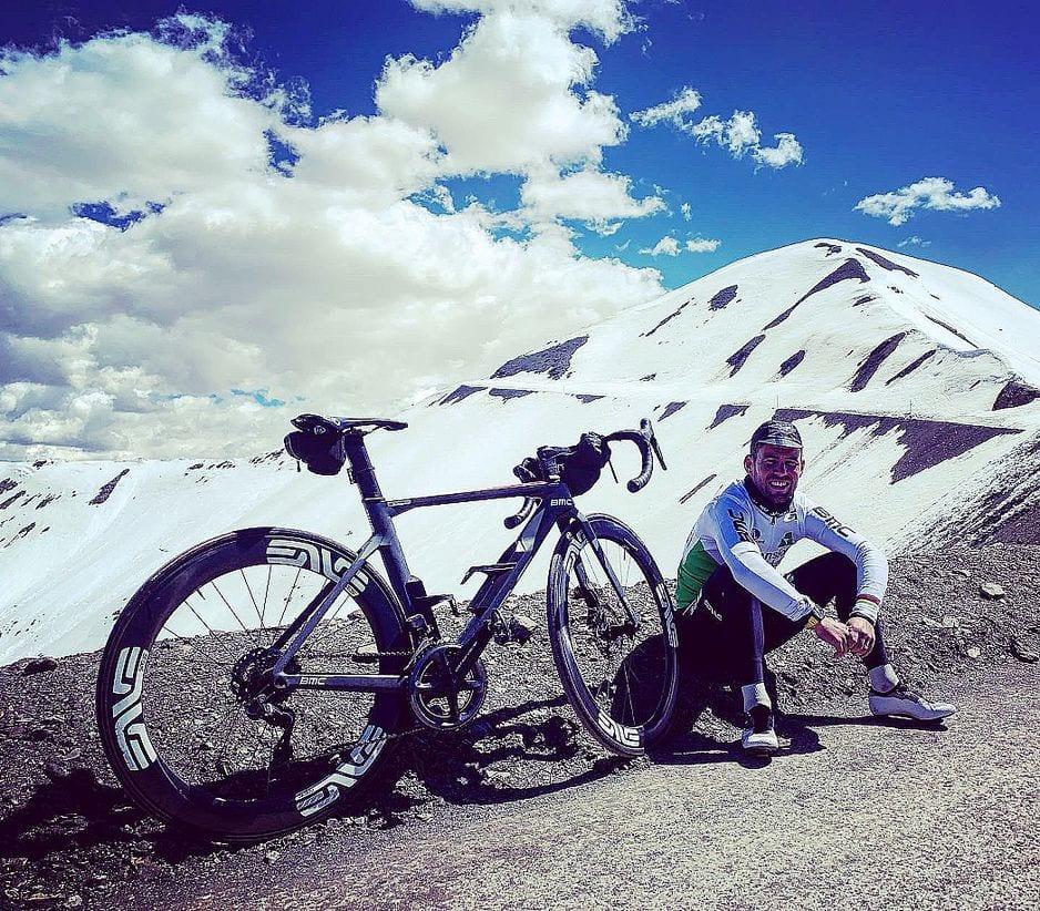 Mark Cavendish tente de retrouver son meilleur niveau de forme dans les Alpes.