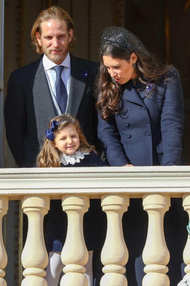 Andrea Casiraghi et son épouse Tatiana Santo Domingo avec leur fille India.