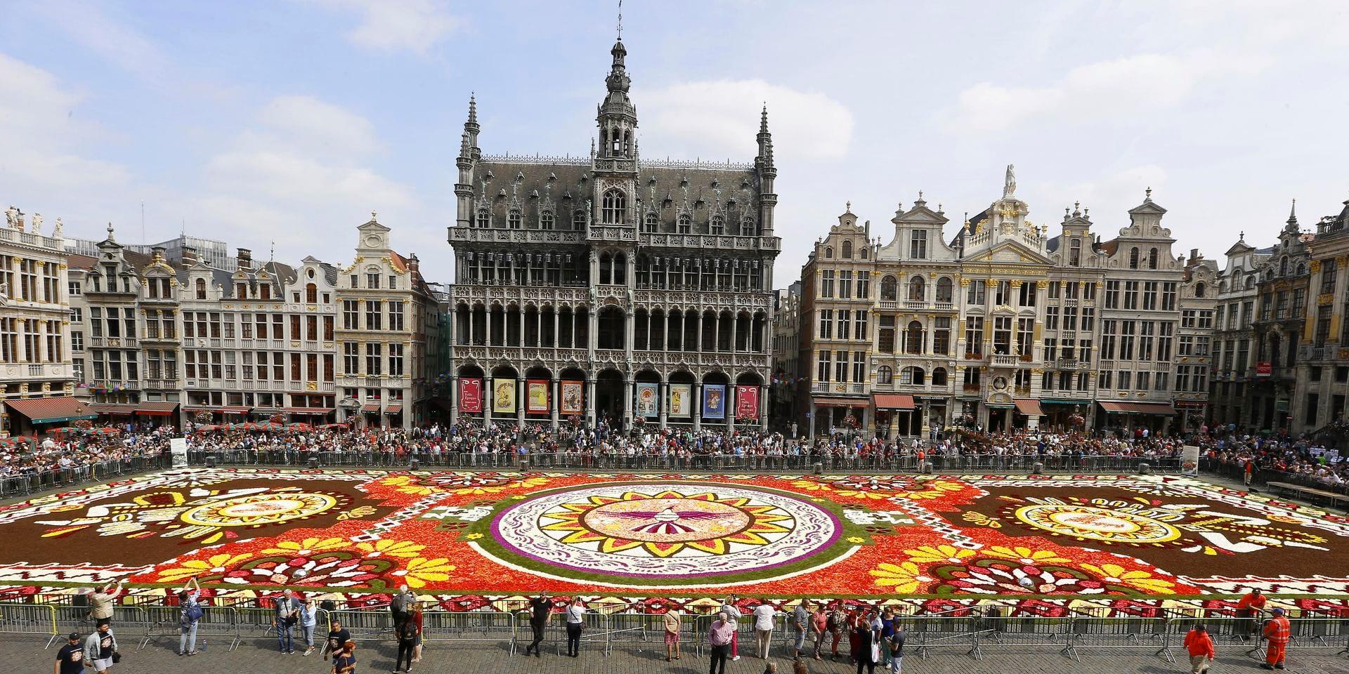 Découvrer le tapis de fleurs mexicain sur la Grand-Place de Bruxelles
