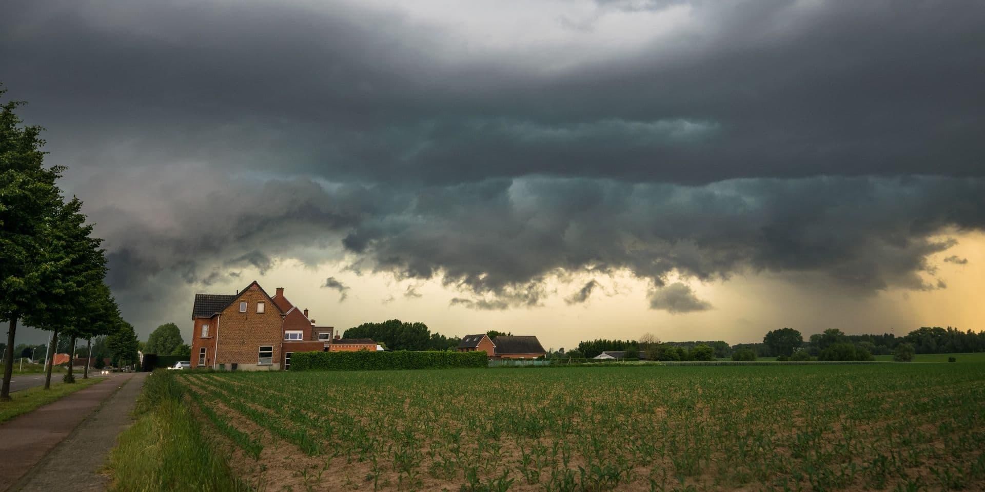Météo : L'IRM lance un avertissement aux averses orageuses qui pourraient s'accompagner de grêle