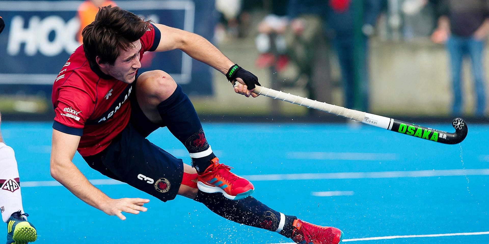 KHC Dragons' Arthur Van Doren pictured in action during a hockey game between Royal Herakles HC and KHC Dragons, in the Audi league hockey competition, Sunday 25 March 2018, in Lier. BELGA PHOTO KRISTOF VAN ACCOM