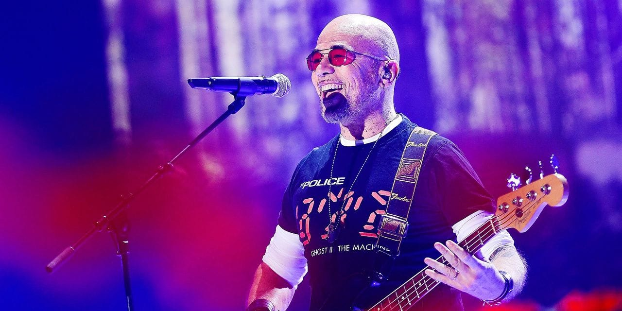 Singer Pascal Obispo performs on stage at the closing ceremony of the 31st edition of the 'Televie' charity event of the RTL-TVi television chains, Saturday 27 April 2019 in Louvain-la-Neuve. BELGA PHOTO LAURIE DIEFFEMBACQ