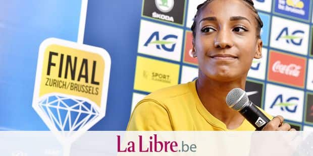 Belgian Nafissatou Nafi Thiam pictured during a press conference regarding the 2019 edition of the AG Memorial Van Damme athletics meeting, Thursday 05 September 2019 in Brussels. BELGA PHOTO DIRK WAEM
