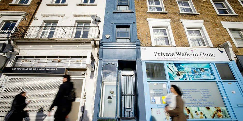 La plus étroite maison de Londres est à vendre