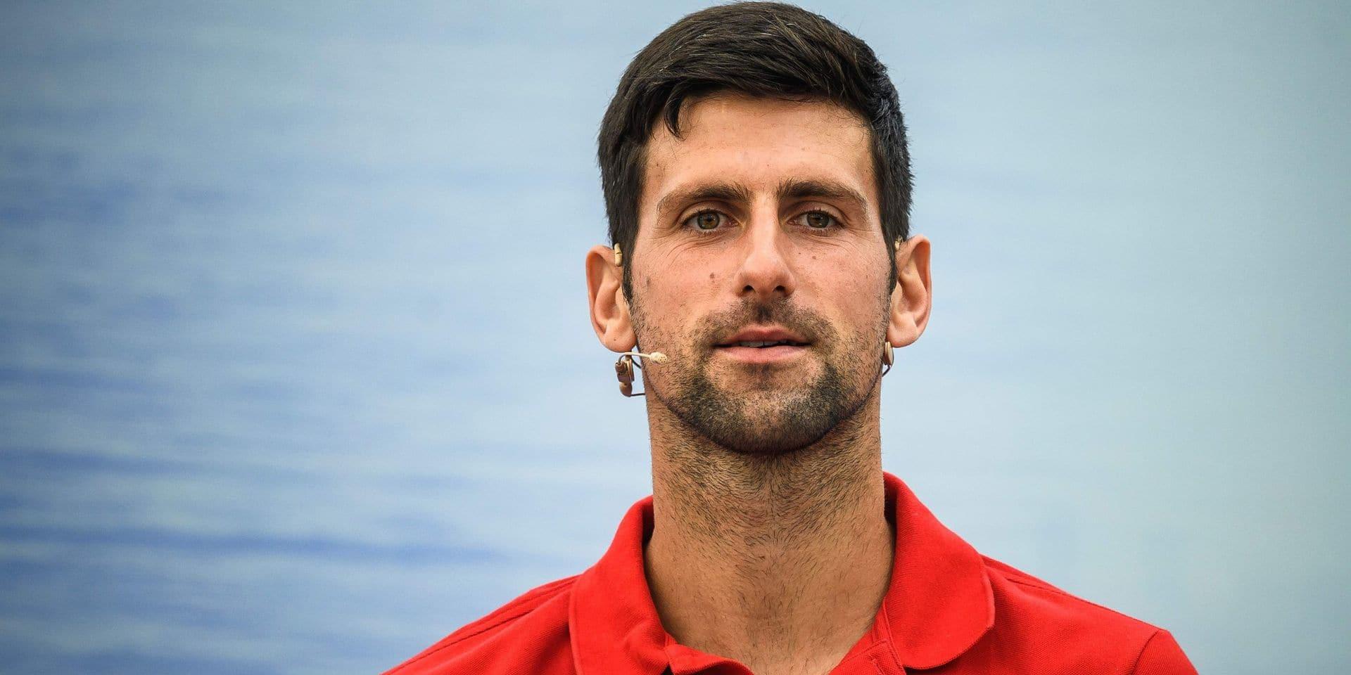 Djokovic organise un tournoi humanitaire avec des vedettes du tennis international vers la mi-juin à Belgrade